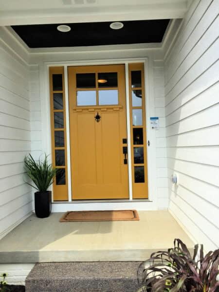 Mid Century Modern Mustard Colored Front Door