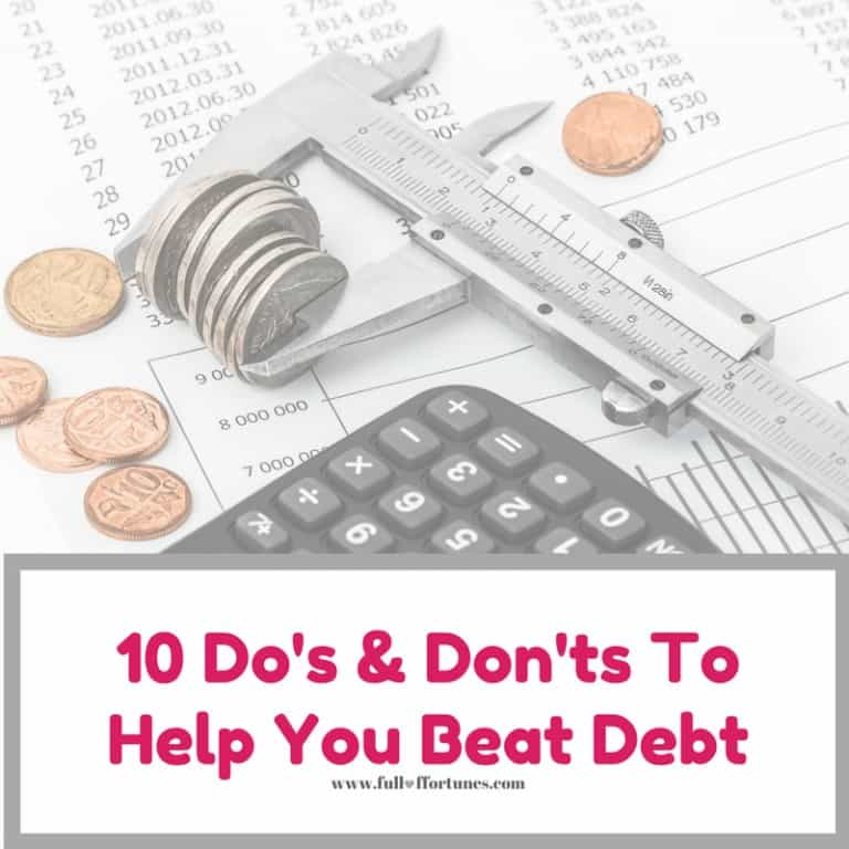 10 Do's and Don'ts To Help You Beat Debt