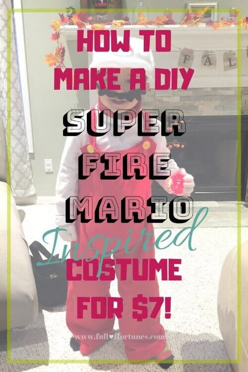 HOW TO MAKE A DIY SUPER FIRE MARIO INSPIRED COSTUME FOR $7!