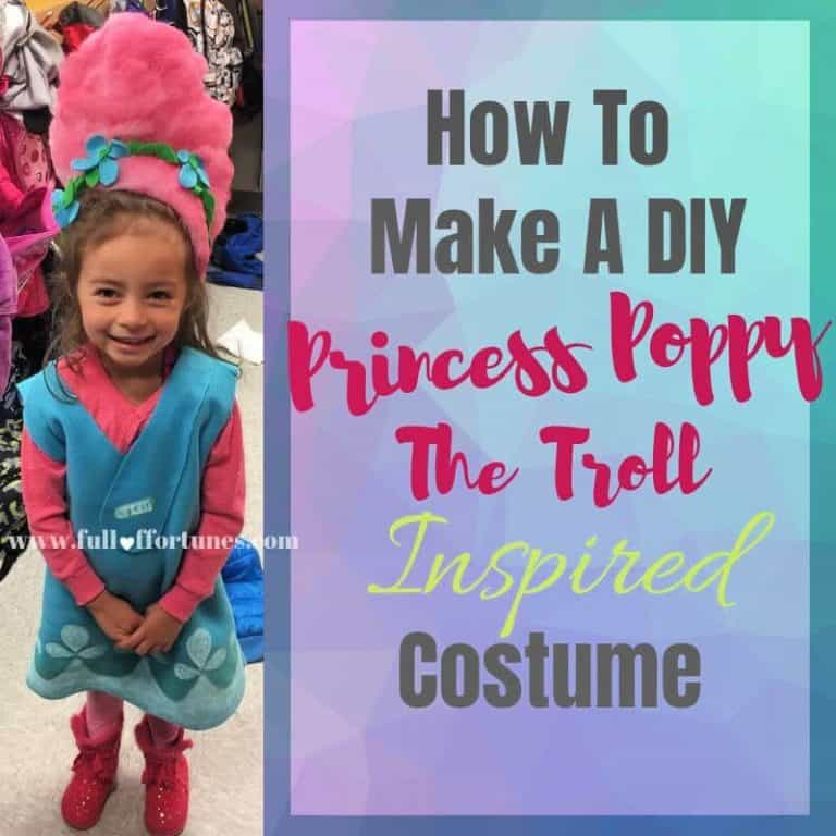 How To Make A DIY Princess Poppy Troll Inspired Costume For Less Than $4