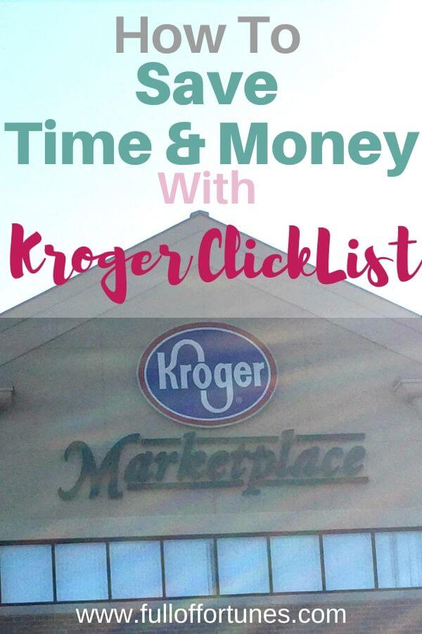 Save Time & Money Kroger Click List