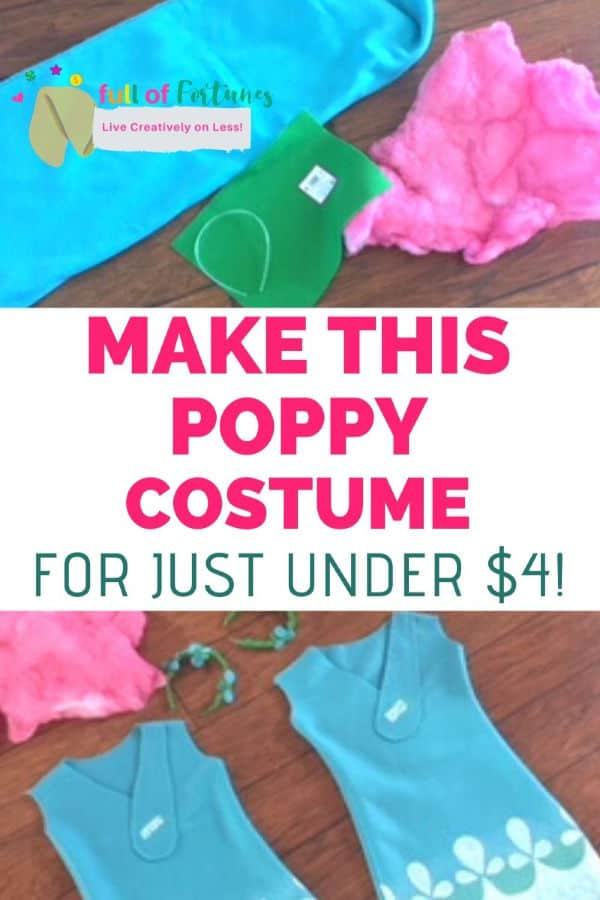 Make This Poppy Costume For Just Under $4!
