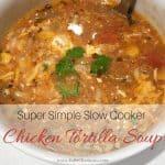 Super Simple Slow Cooker Chicken Tortilla Soup