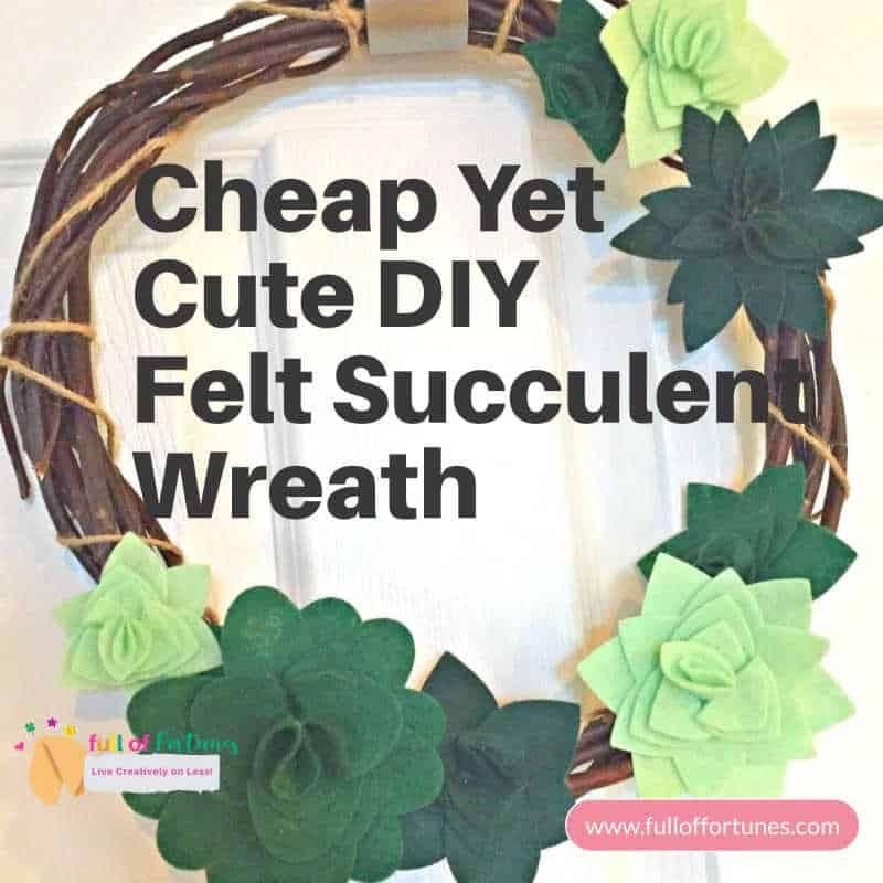 DIY Felt Succulent Craft Wreath