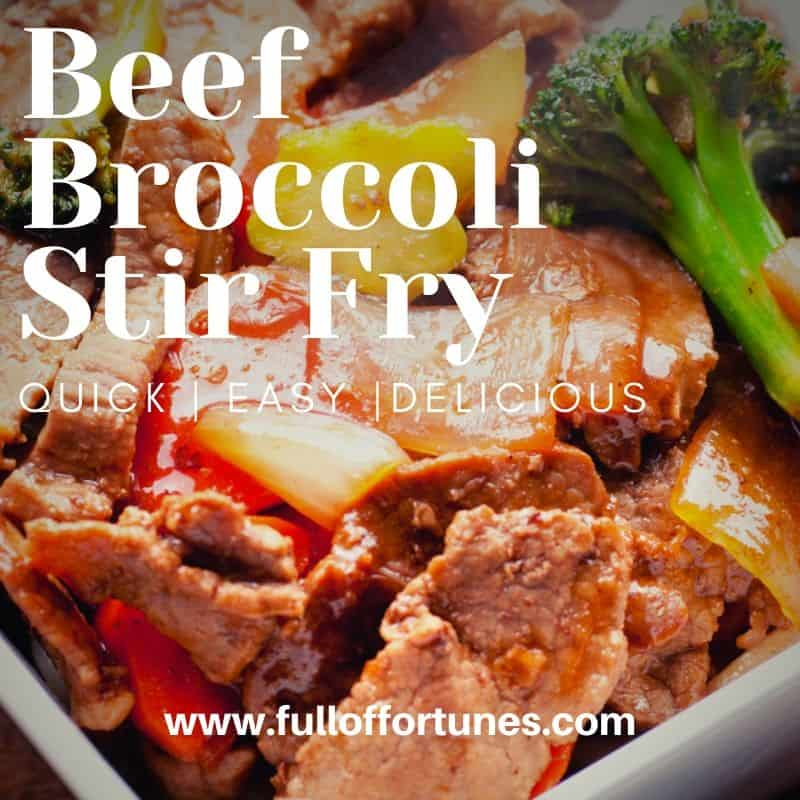 Beef Broccoli Stir Fry with onions & bell peppers Recipe