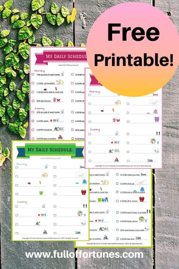 Grab these free Printable Back To School Routines For Your Kiddos!