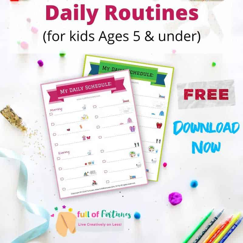 Free Printable School Routines