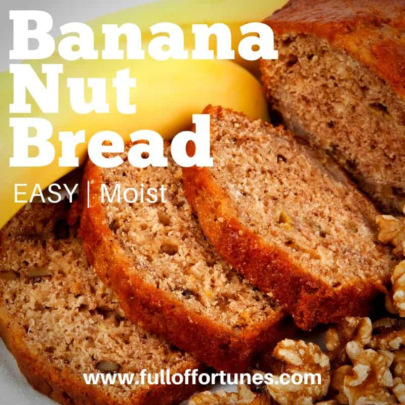 Easy Moist Banana Nut Bread