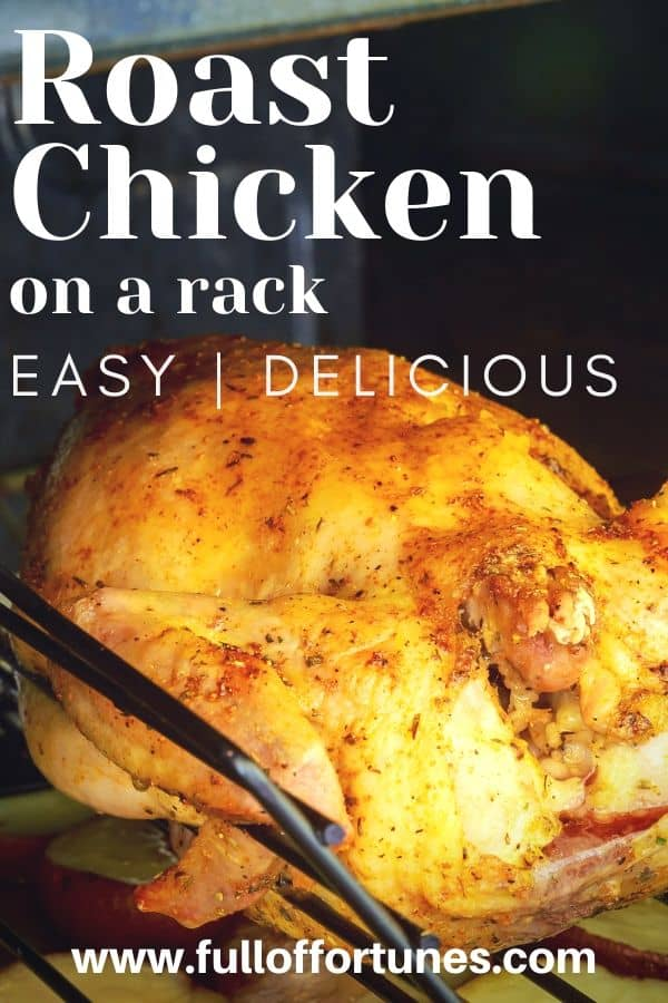 Oven Roasted Chicken On a Rack