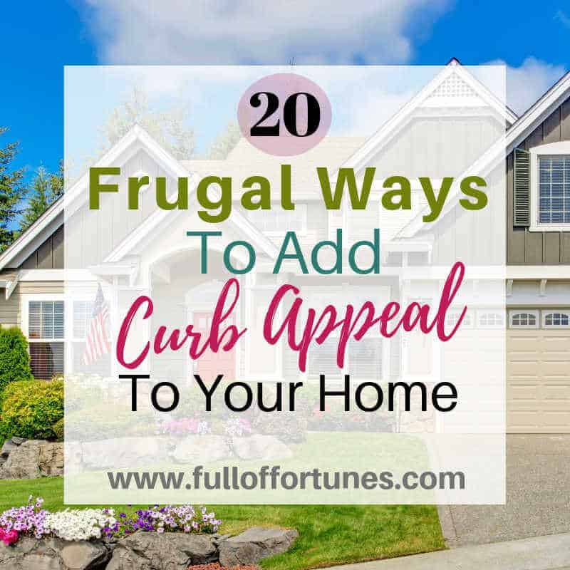 A beautiful front yard doesn't have to cost very much, here is how to do it on a small budget!
