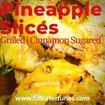 Grilled Cinnamon Sugared Pineapple Slices