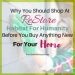 Why You Should Shop At ReStore Before You Buy Anything New For Your Home
