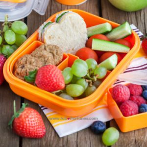 Use foods with lots of natural colors like grapes, strawberries, etc. to pique their interests.