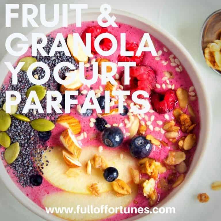 Fruit & Granola Yogurt Parfaits Recipe