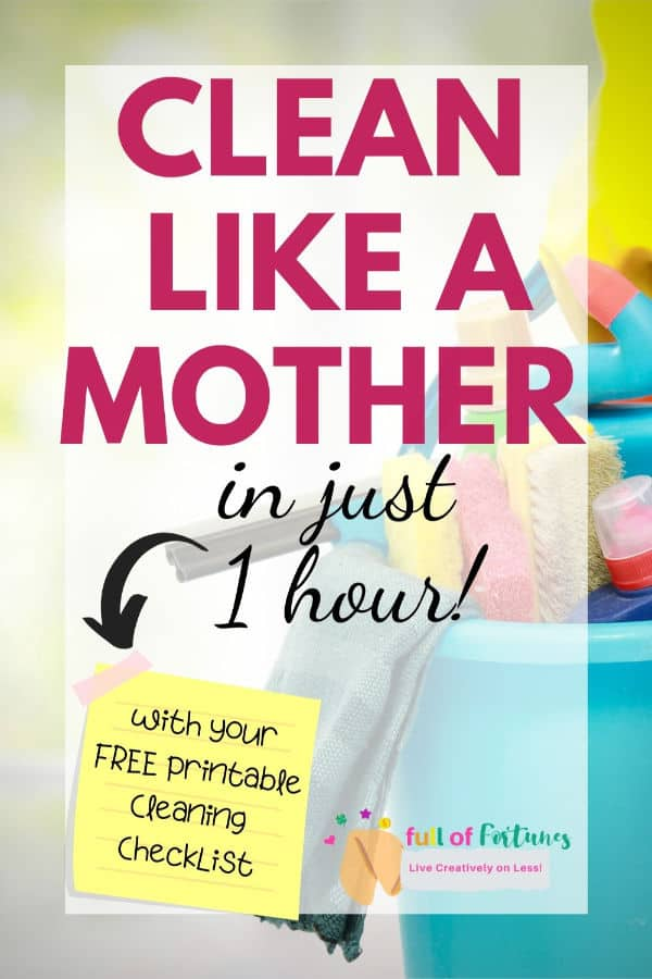 Clean Like A Mother In Just 1 Hour!