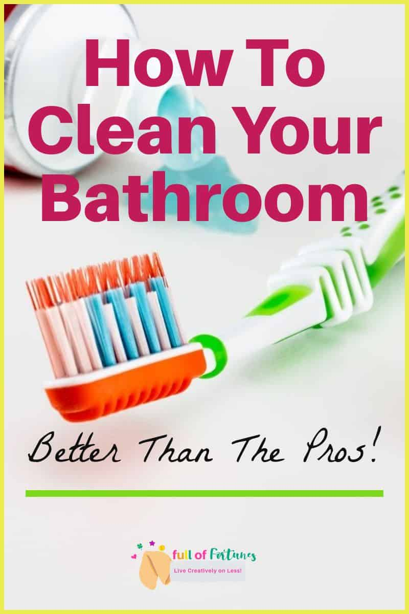 Clean Bathroom Toothpaste & Toothbrushes