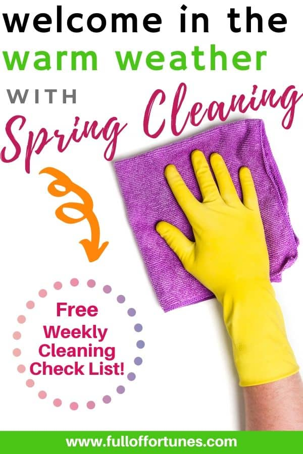 Yellow Cleaning Gloves wiping with purple microfiber cleaning rag