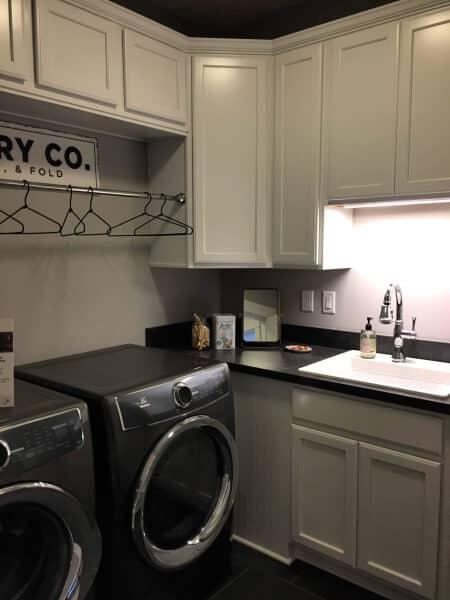 Black & White Modern Laundry Room