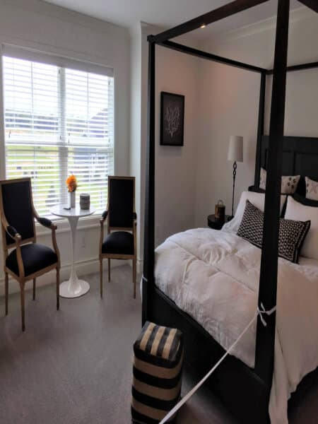 Classic Modern Black & White Bedroom