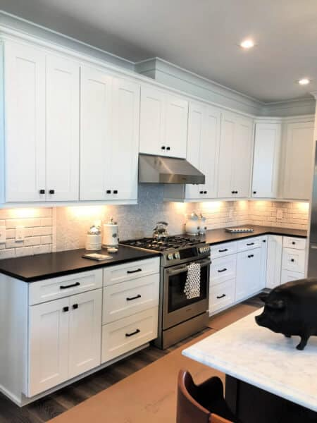 Classic Modern Black & White Kitchen