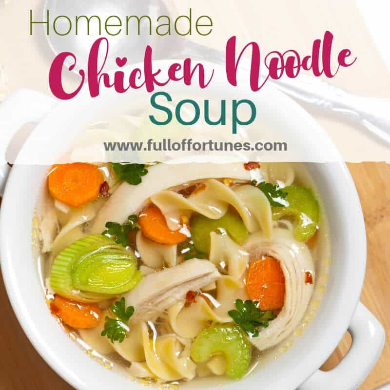 It's cold & rainy outside, how about a nice hot bowl of homemade chicken noodle soup to warm you up?