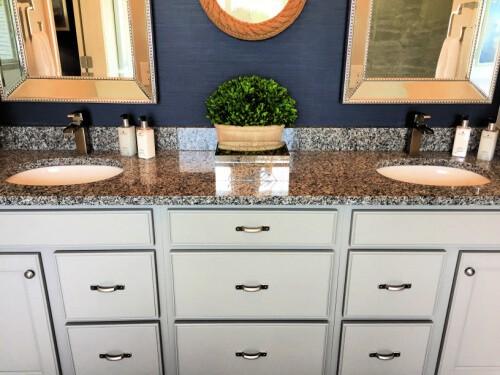 Nautical Themed Master Bath Vanity Sinks