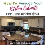 How To Remodel Your Kitchen Cabinets For Just Under $60!