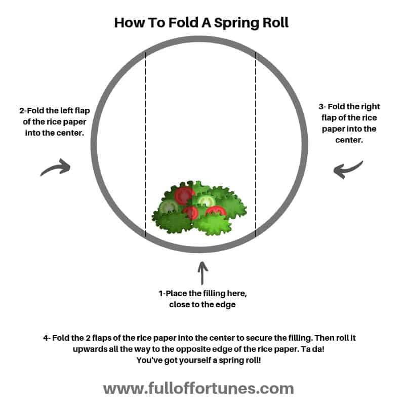 How To Fold A Fresh Spring Roll