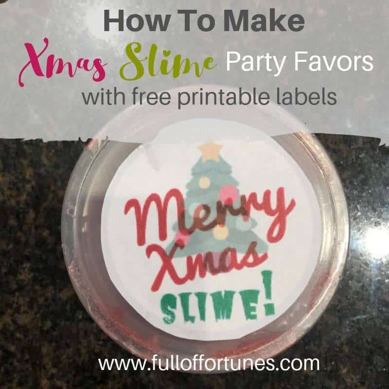 Merry Xmas Slime Party Favor Cup