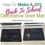 How To Make A DIY Back To School Decorative Door Mat for $1