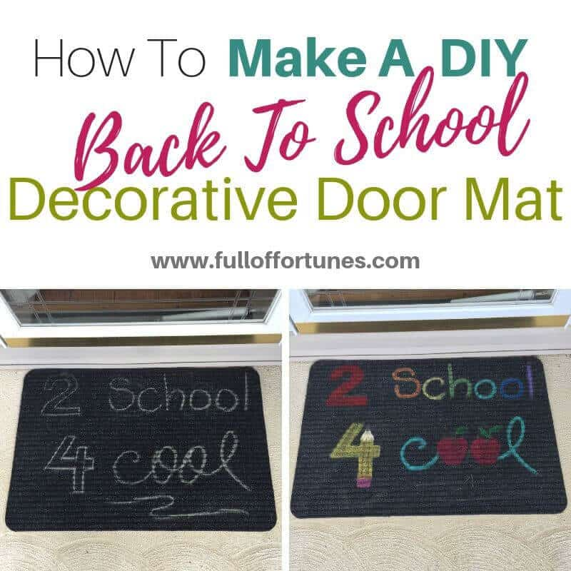 Send them off to school on a happy note with this DIY decorative door mat!
