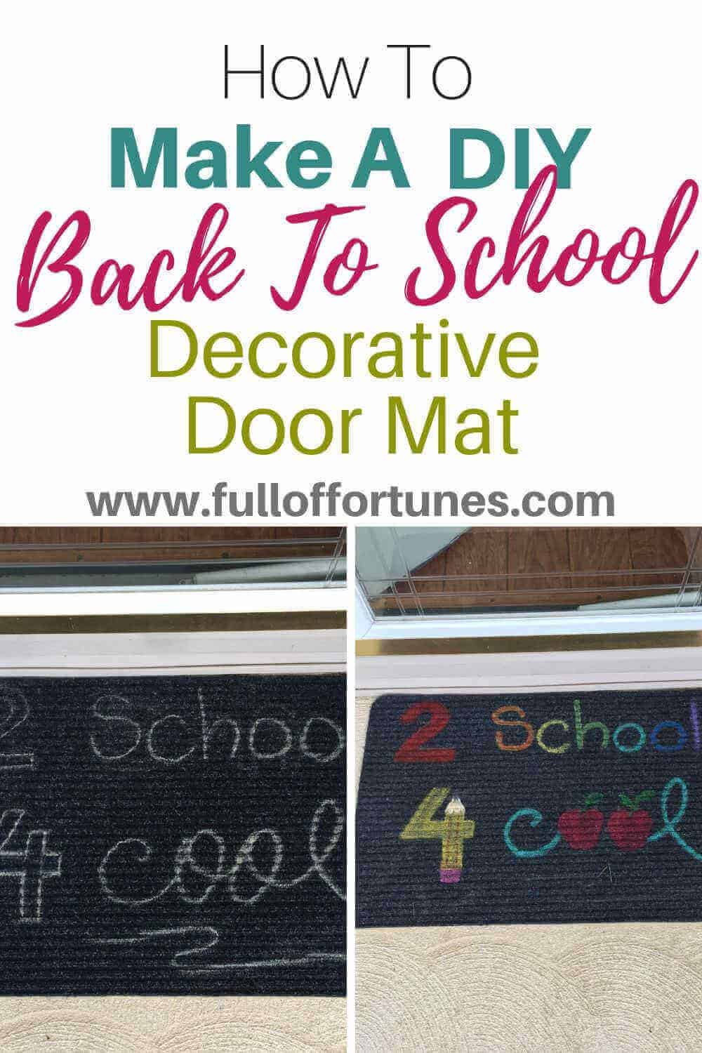 Back To School Door Mat