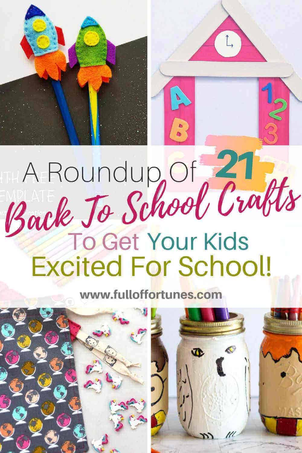 A Roundup of Back To School Crafts