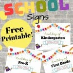 Free Printable First Day of School Signs 2019-2020