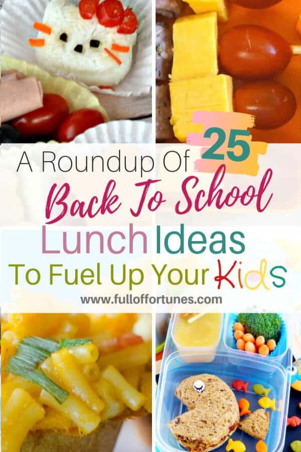 A Roundup of 25 Back To School Lunch Ideas To Help Fuel Up Your Kids