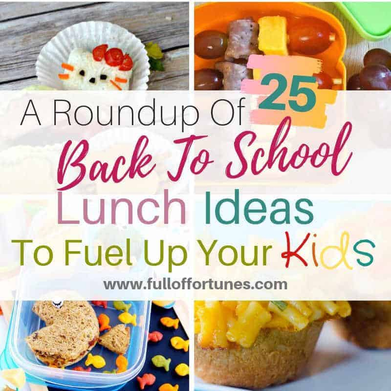 Here is a roundup of 25 back to school lunch ideas for your kiddos.