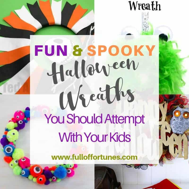 A collection of 25 of the spookiest Halloween Wreaths from around the web