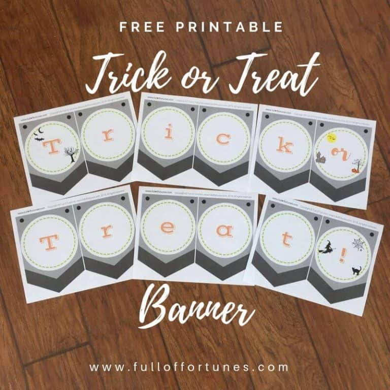 Free Printable Trick or Treat Banner