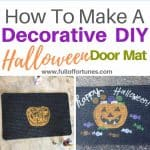 How To Make A Decorative Halloween Door Mat For $1