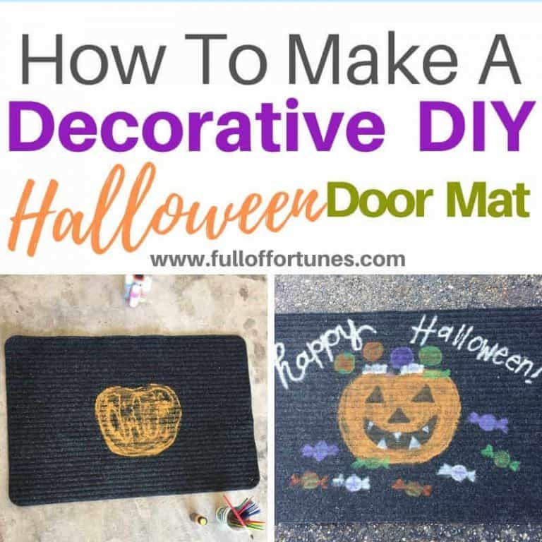 How To Make A Decorative Halloween Door Mat For $1