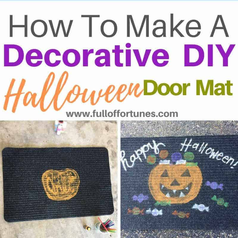 Make This Halloween DoorMat For About $1